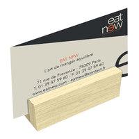 Menu Solutions WDBLOCK-MINI 3 inch Natural Wood Mini Card Holder