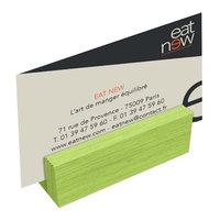 Menu Solutions WDBLOCK-MINI 3 inch Lime Wood Mini Card Holder