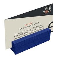 Menu Solutions WDBLOCK-MINI 3 inch True Blue Wood Mini Card Holder