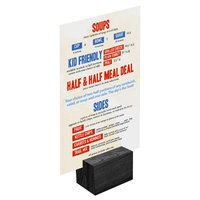 Menu Solutions WDBLOCK-REC 2 inch Black Wood Rectangular Card Holder