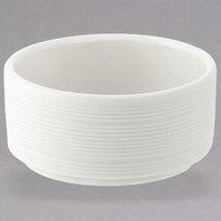 Oneida L5650000941 Manhattan 1.38 oz. Round Warm White Porcelain Butter / Sauce Dish - 144/Case