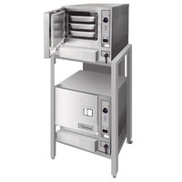 Cleveland 2-22CET63.1 SteamChef Double Deck 9 Pan Electric Floor Steamer - 440/480V, 3 Phase, 24 kW