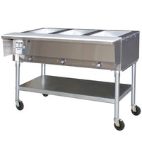 Eagle Group PDHT3 Portable Electric Hot Food Table Three Pan - Open Well, 120V