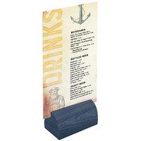 Menu Solutions WDBLOCK-CURV 3 inch Denim Wood Curved Card Holder