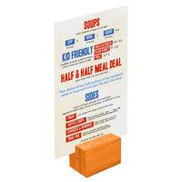 Menu Solutions WDBLOCK-REC 2 inch Mandarin Wood Rectangular Card Holder