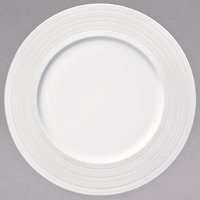 Oneida L5650000133 Manhattan 8 1/4 inch Round Warm White Porcelain Plate - 24/Case