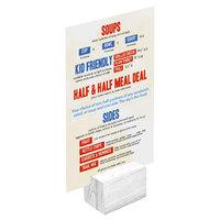 Menu Solutions WDBLOCK-REC 2 inch White Wash Wood Rectangular Card Holder