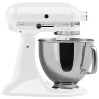 KitchenAid KSM150PSWH White Artisan Series 5 Qt. Countertop Mixer