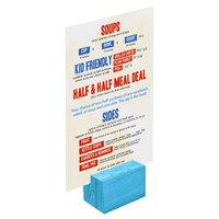 Menu Solutions WDBLOCK-REC 2 inch Sky Blue Wood Rectangular Card Holder