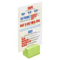 Menu Solutions WDBLOCK-REC 2 inch Lime Wood Rectangular Card Holder
