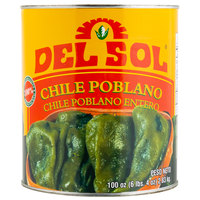 Del Sol #10 Can Whole Poblano Peppers