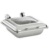 Vollrath 4644020 Mirage® 5.6 Qt. 2/3 Size Square Induction Chafer with Glass Top and 2/3 Size, 2.5 inch Deep Super Pan V® Stainless Steel Food Pan