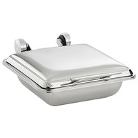 Vollrath 4644025 Mirage® 5.6 Qt. 2/3 Size Square Induction Chafer with Stainless Steel Top and 2/3 Size, 2.5 inch Deep Super Pan V® Stainless Steel Food Pan