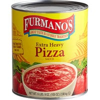 Furmano's #10 Can Extra Heavy Pizza Sauce - 6/Case