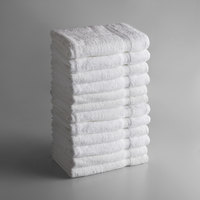 Lavex Lodging Premium 27 inch x 54 inch 100% Ring Spun Cotton Bath Towel 12 lb. - 12/Pack
