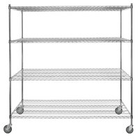 Regency 30 inch x 72 inch NSF Chrome Shelf Kit with 64 inch Posts and Casters