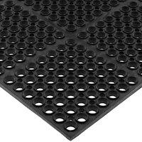 San Jamar KM2100B Tuf-Mat 3' x 5' Black Grease-Resistant Bagged Floor Mat - 3/4 inch Thick