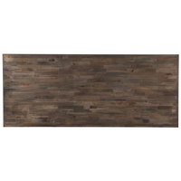 Lancaster Table & Seating 30 inch x 72 inch Recycled Wood Butcher Block Table Top with Espresso Finish