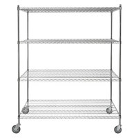 Regency 30 inch x 60 inch NSF Chrome Shelf Kit with 64 inch Posts and Casters