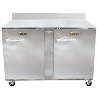 Traulsen UHT48-RR-SB CU48TOP-BSWO 48 inch Worktop Refrigerator