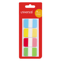Universal UNV99020 1 inch 4 Assorted Color Self-Stick Index Tabs   - 100/Pack