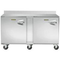 Traulsen ULT60-LL CU60TOP-BSWO 60 inch Two Door Worktop Freezer