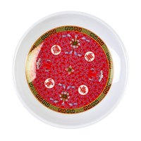 Thunder Group 1004TR Longevity 4 1/2 inch Round Melamine Plate - 12/Pack