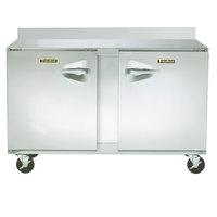 Traulsen ULT48-LR-SB CU48TOP-BSWO 48 inch Two Door Worktop Freezer