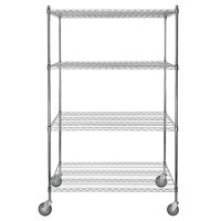 Regency 30 inch x 48 inch NSF Chrome Shelf Kit with 64 inch Posts and Casters