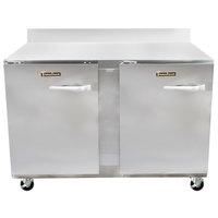 Traulsen UHT48-LL-SB CU48TOP-BSWO 48 inch Worktop Refrigerator