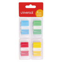 Universal UNV99012 1 inch x 1 3/4 inch 4 Assorted Color Deluxe Pop-Up Page Flags   - 200/Pack