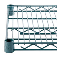 Regency 30 inch x 48 inch Green Epoxy Wire Shelf