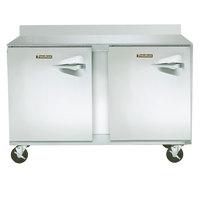 Traulsen ULT48-LL-SB CU48TOP-BSWO 48 inch Two Door Worktop Freezer