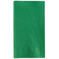 Choice 15 inch x 17 inch Customizable Festive Green 2-Ply Paper Dinner Napkin - 1000/Case