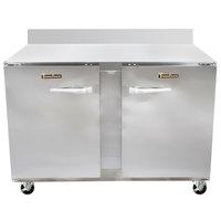 Traulsen UHT48-LR-SB CU48TOP-BSWO 48 inch Worktop Refrigerator