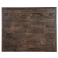 Lancaster Table & Seating 24 inch x 30 inch Recycled Wood Butcher Block Table Top with Espresso Finish