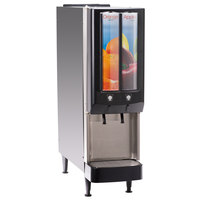 Bunn 37900.0063 JDF-2S 2 Flavor Cold Beverage Push Button Juice Dispenser with LED Graphics - 120V