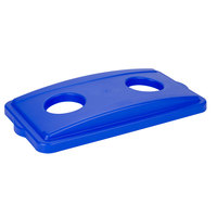 Continental 7316BL Wall Hugger Blue Recycle Bottle / Can Lid
