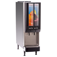 Bunn 37900.0064 JDF-2S 2 Flavor Cold Beverage Portion Control Juice Dispenser with LED Graphics - 120V