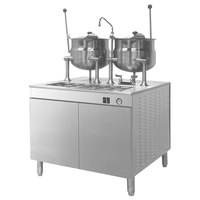 Cleveland 36-EM-K66-24 Electric Tilting (2) 6 Gallon 2/3 Steam Jacketed Kettles with Modular Generator Base - 440V, 3 Phase, 24 kW