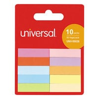 Universal UNV99026 1/2 inch x 2 inch Assorted Color Self-Stick Page Tabs   - 500/Pack
