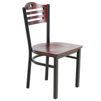 Lancaster Table &amp&#x3b; Seating Mahogany Finish Bistro Dining Chair
