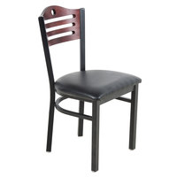 Lancaster Table & Seating Mahogany Finish Bistro Dining Chair with 1 1/2 inch Padded Seat