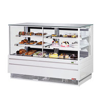 Turbo Air TCGB-72CO-W-N White 72 inch Curved Glass Dual Dry / Refrigerated Bakery Display Case