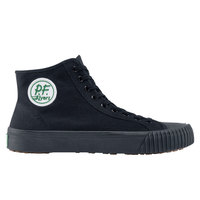 PF Flyers 45913 Sandlot Center HI Unisex Black Water-Resistant Soft Toe Non-Slip Casual Shoe