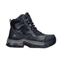 ACE 76969 Regent Women's Black / Purple Water-Resistant Steel Toe Non-Slip Work Boot