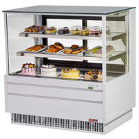 Turbo Air TCGB-48UF-W-N White 48 inch Flat Glass Refrigerated Bakery Display Case
