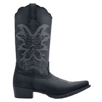 Shoes For Crews 48534 Annie II Women's Black Water-Resistant Soft Toe Non-Slip Cowgirl Boot