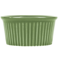 CAC RKF-3GRE Festiware 3 oz. Green China Fluted Ramekin - 48/Case