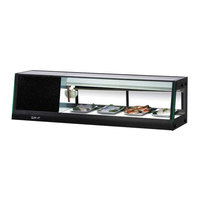 Turbo Air SAS-50L-N 50 inch Straight Glass Refrigerated Sushi Case - Left Side Compressor